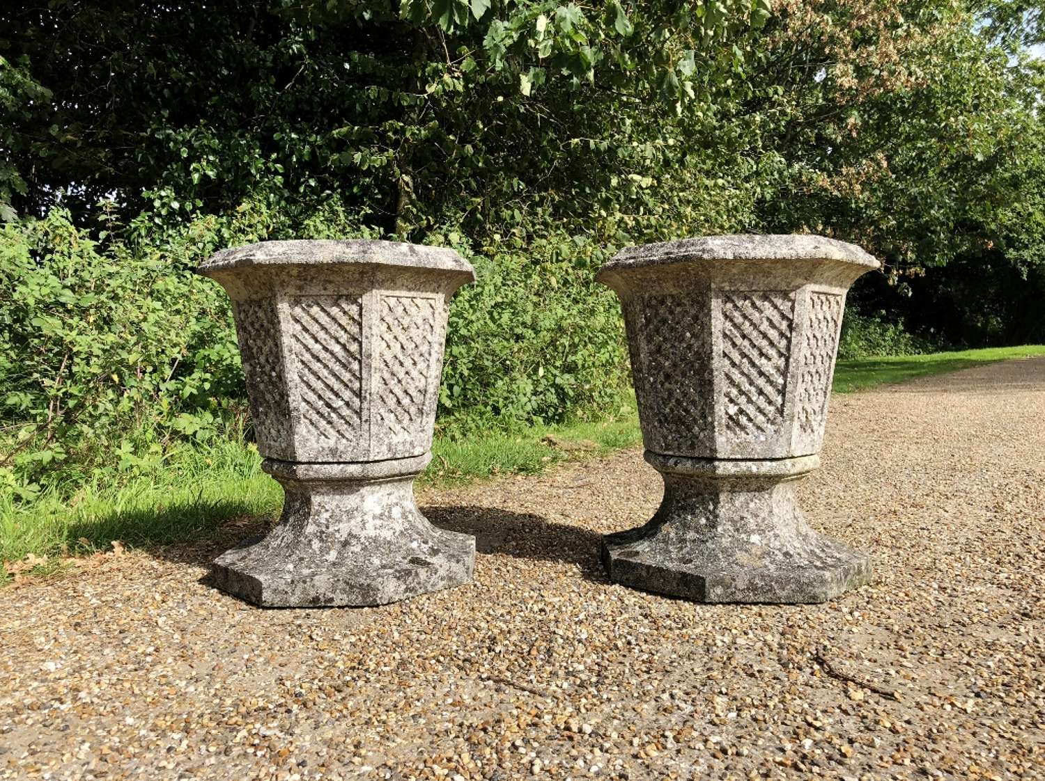 Pair of Octagonal Planters