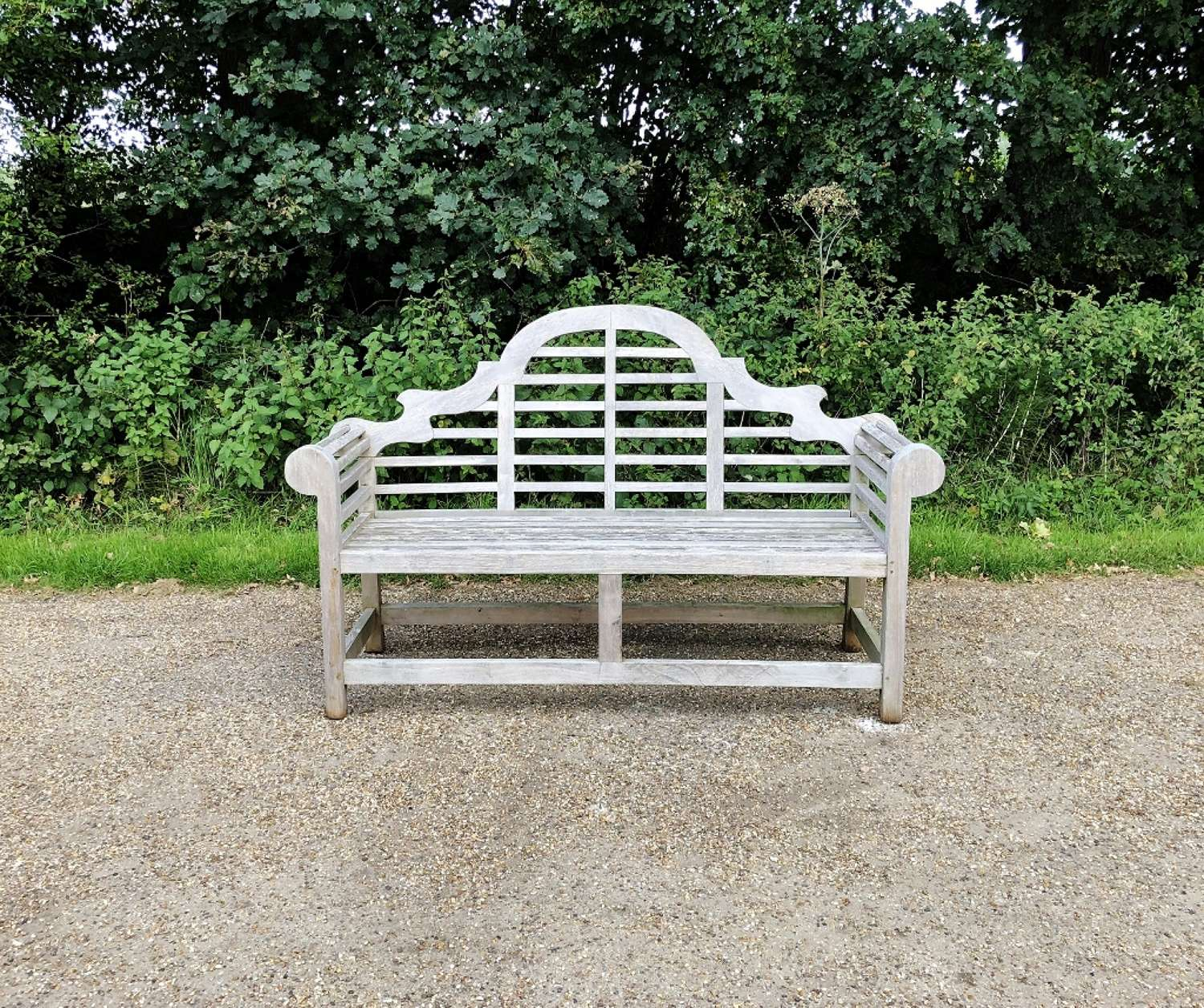 Silvered Lutyen Bench