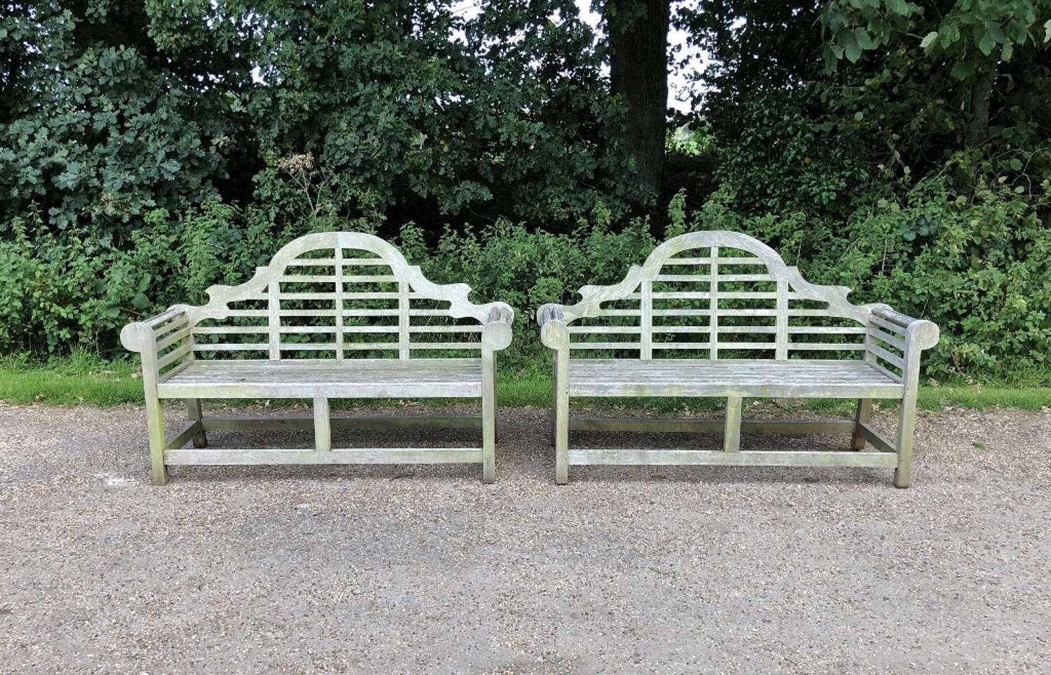 Pair of Weathered Lutyen Benches