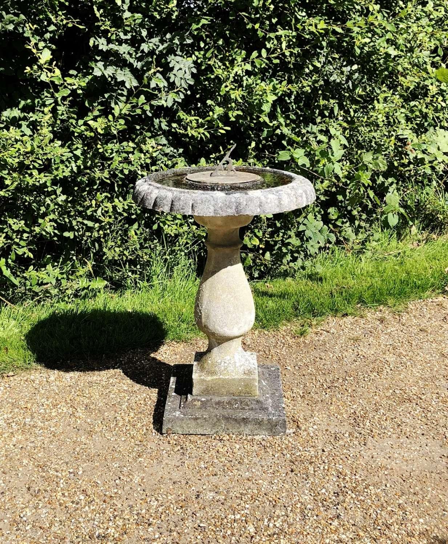 Sundial with Bird Bath