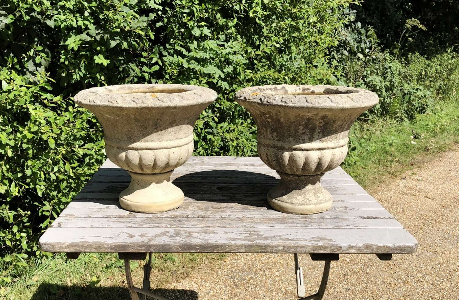 Pair of Small Flower Urns
