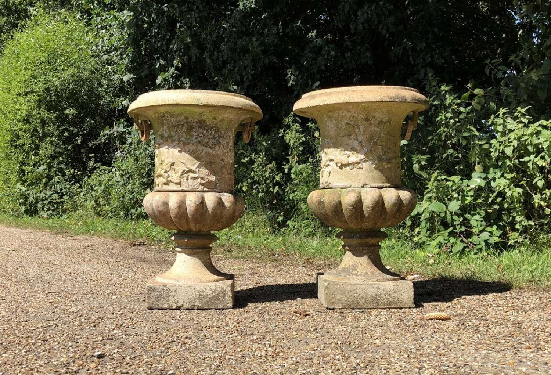 Pair of Antique Terracotta Urns
