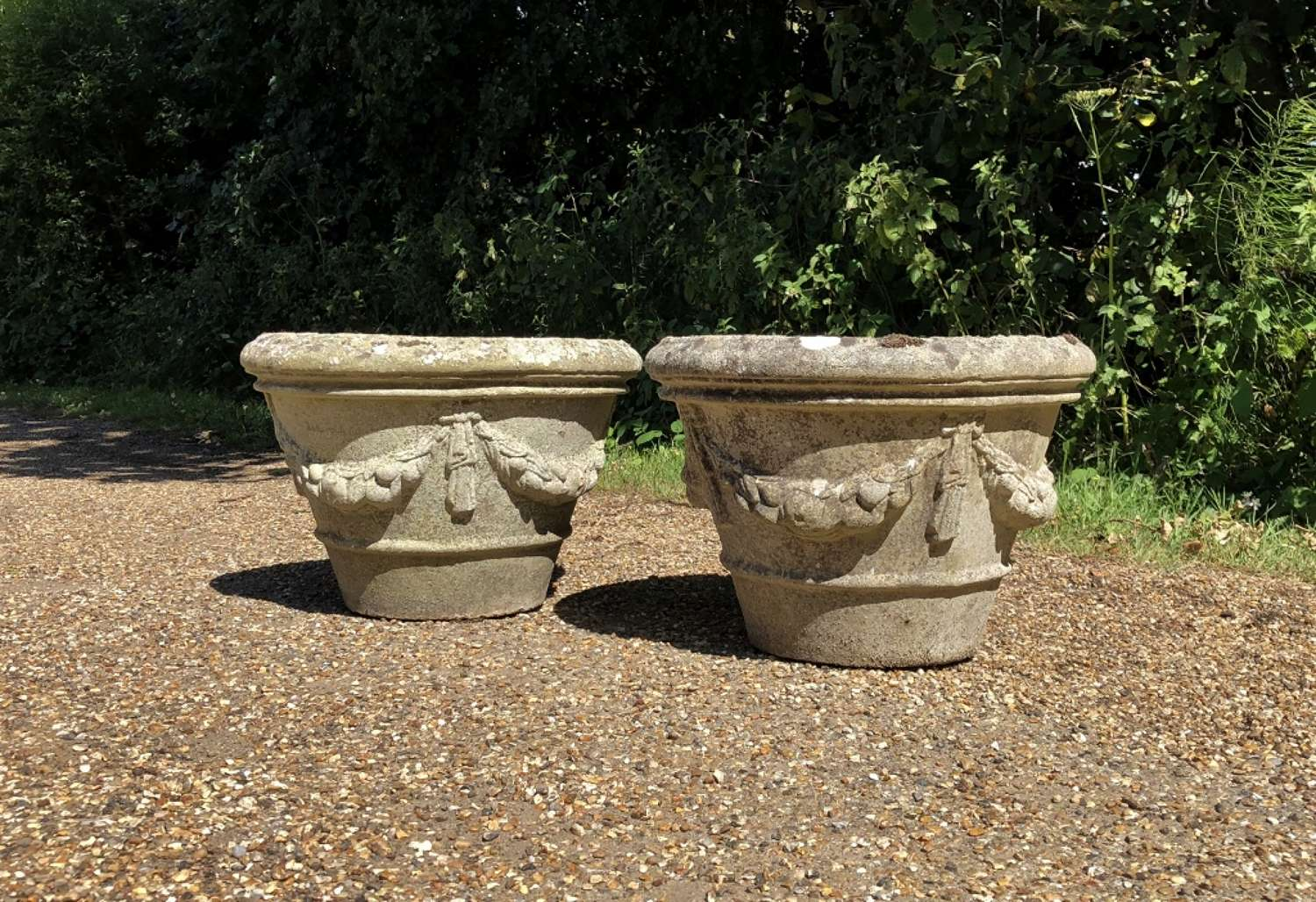 Pair of Garland Planters