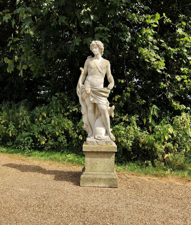 Hunter with Hound Statue