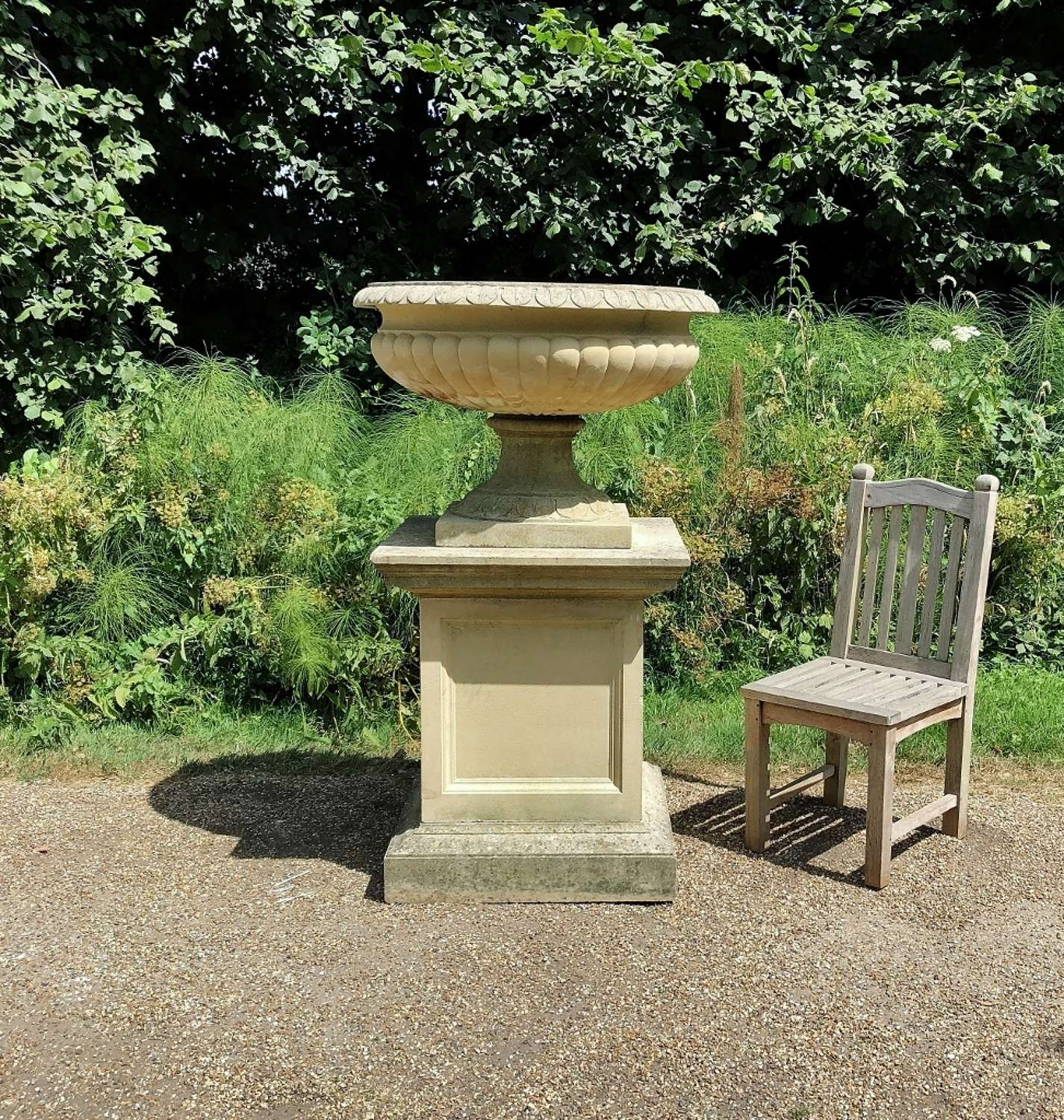 Very Large Tazza Urn and Pedestal