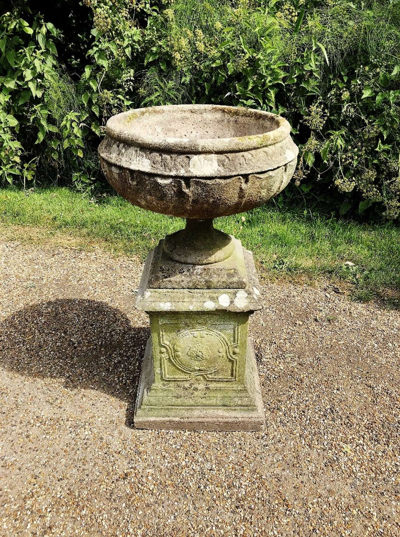 Art Nouveau Urn and Pedestal