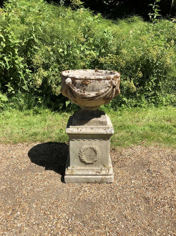 Goblet Urn with Pedestal