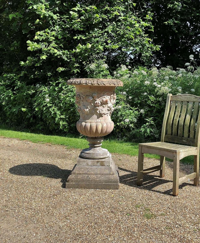 Large Decorative Planter with Plinth