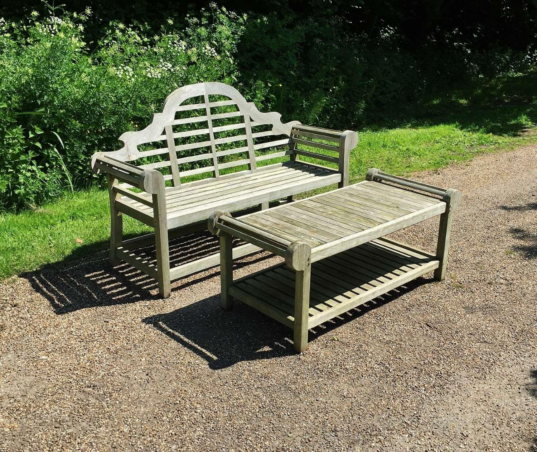 Lutyen Bench and Table