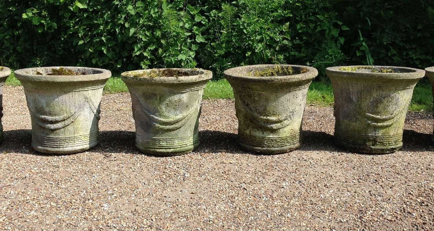Weathered Swag Planters
