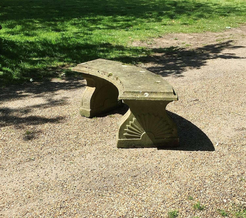 Sunburst Stone Bench