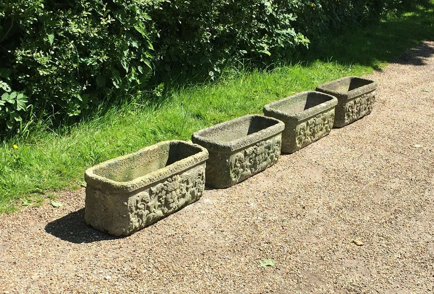 Set of 4 Lion Troughs