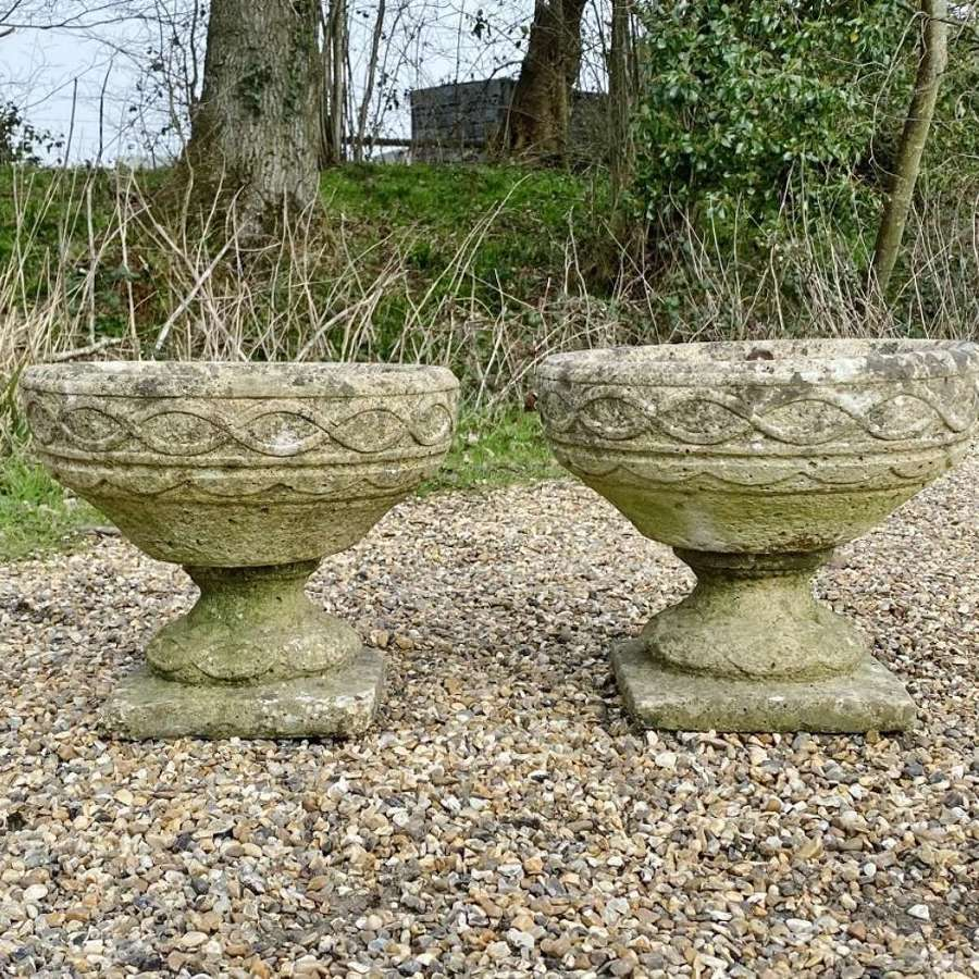 Pair of Small Celtic Urns