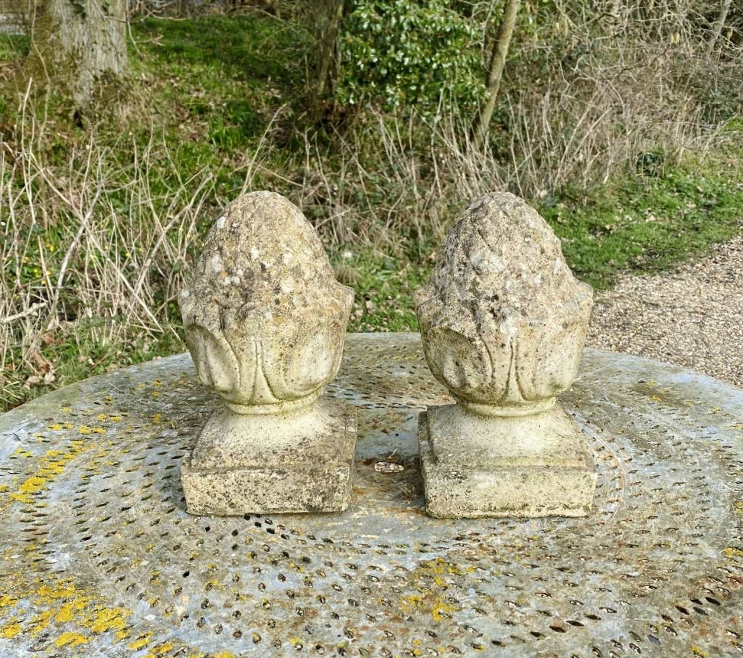 Pair of Small Pineapple Finials