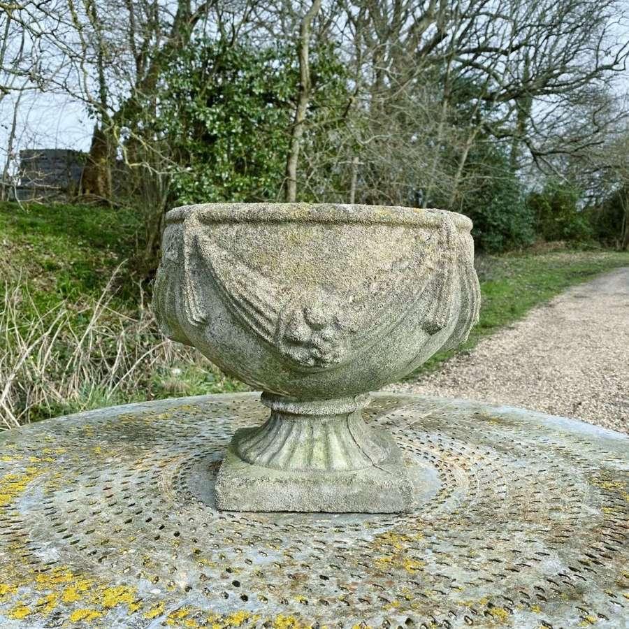 Patinated Goblet Urn