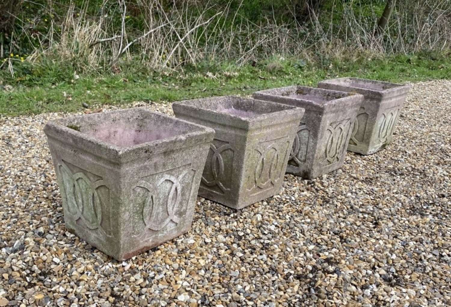 Set of 4 Small Herb Planters
