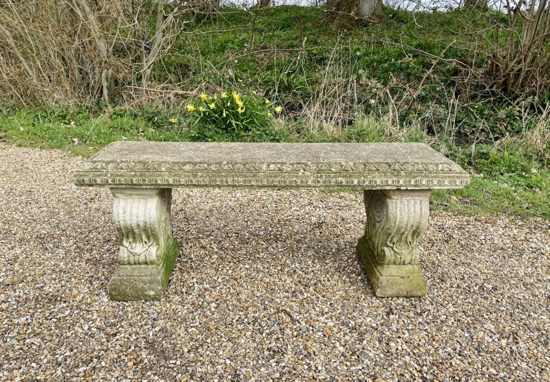 Decorative Stone Bench