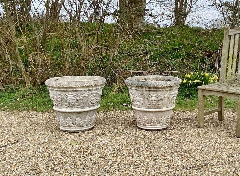 Pair of Large Decorative Planters