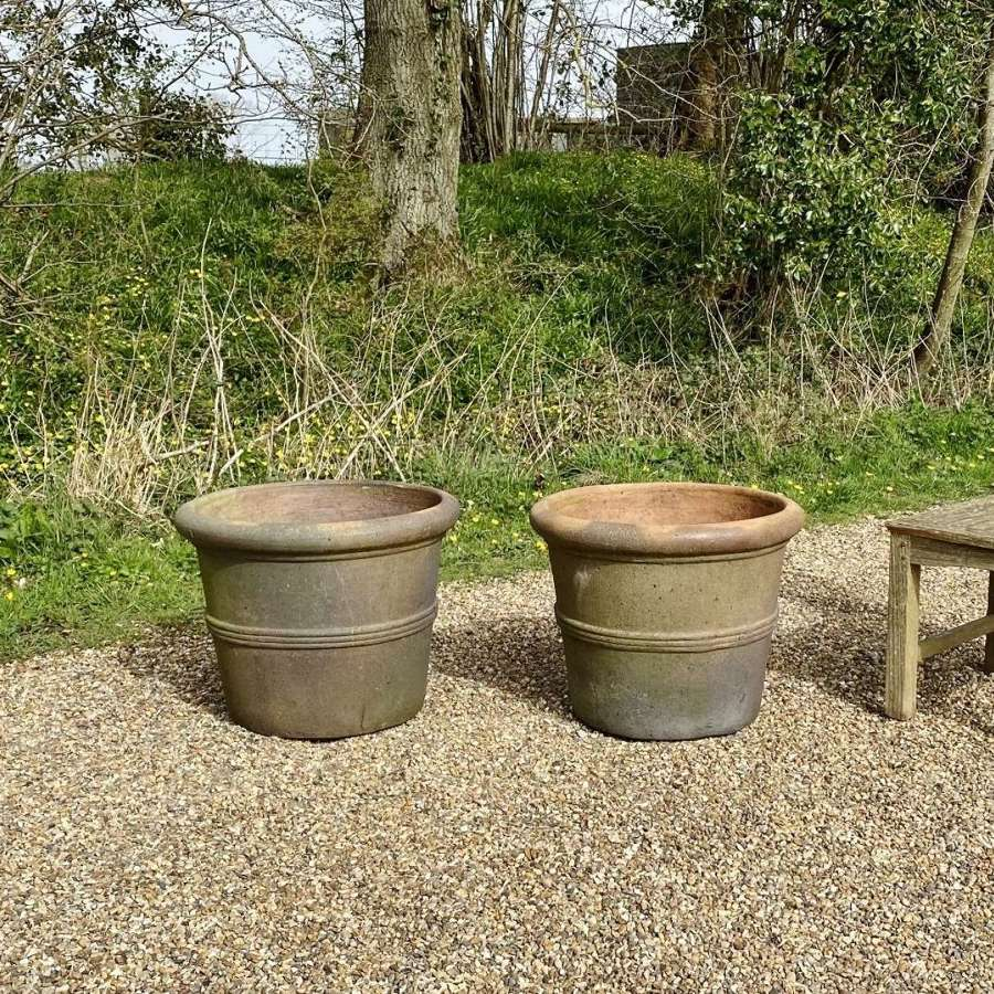 Pair of Large Earthenware Planters