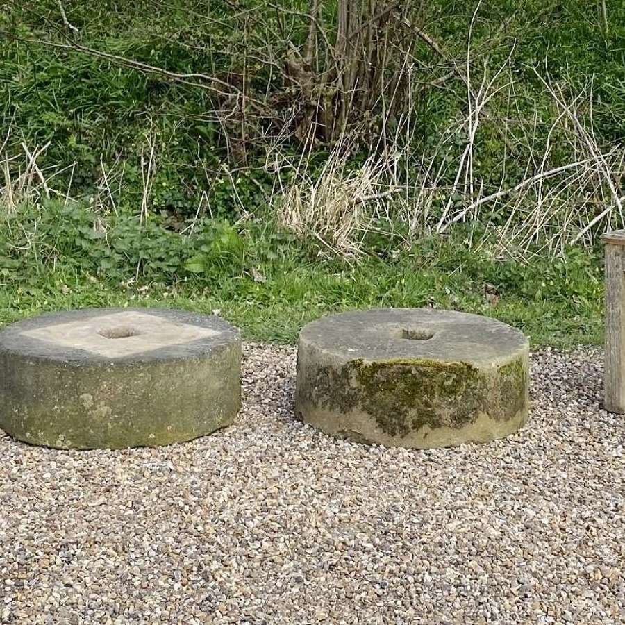 Pair of Small Mill Stones