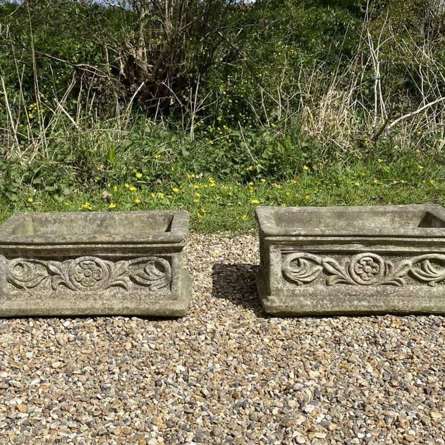 Pair of Small Flower Troughs