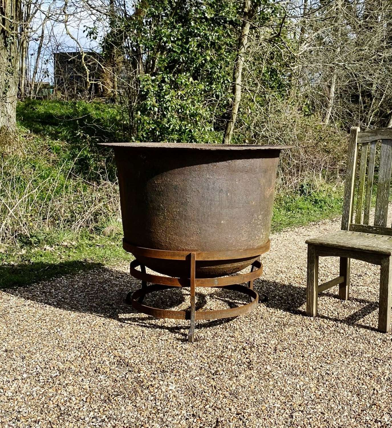 Large Iron Planter or Fire Pit