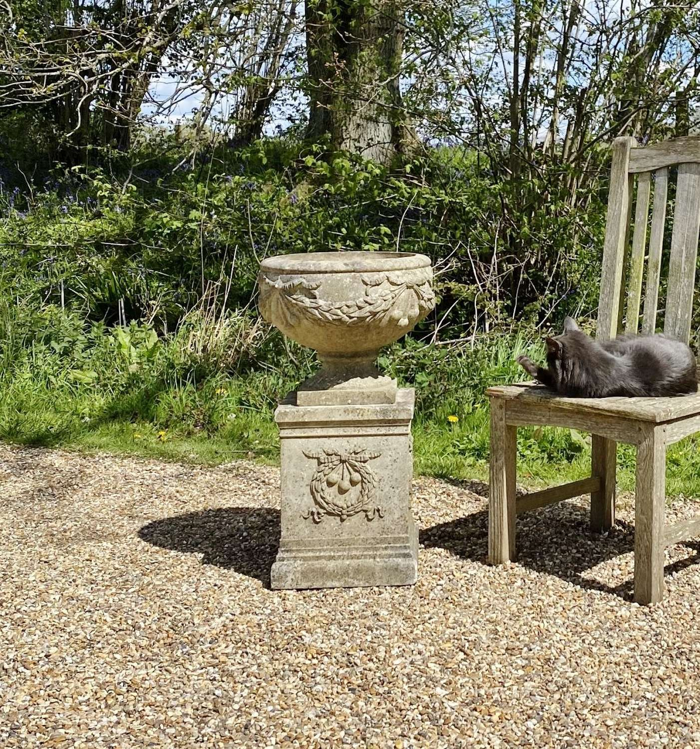 Small Decorative Urn and Pedestal