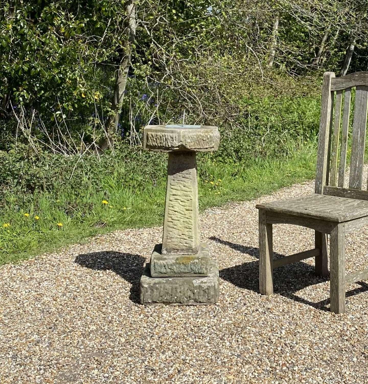 Carved Stone Sundial