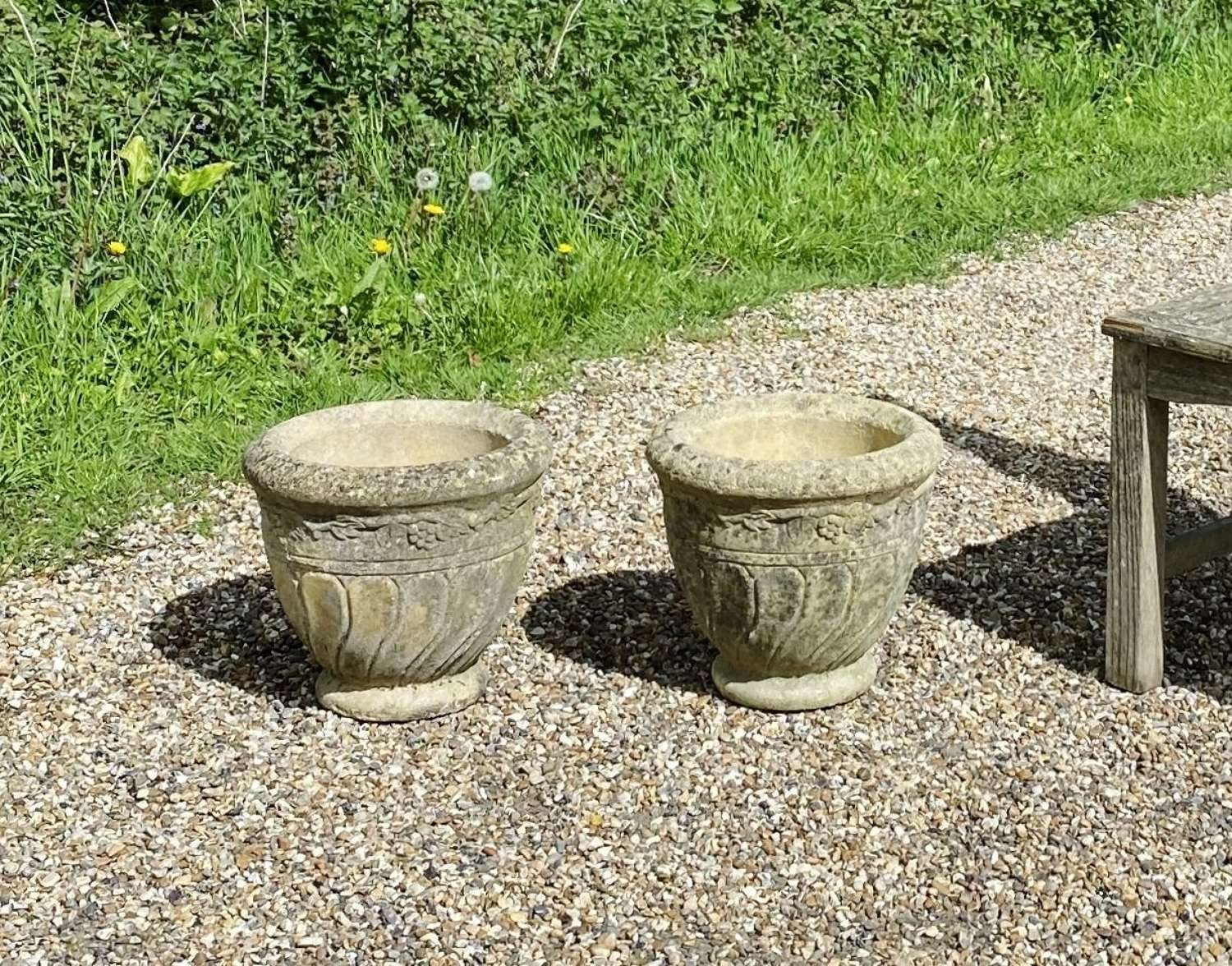 Pair of Small Vintage Planters