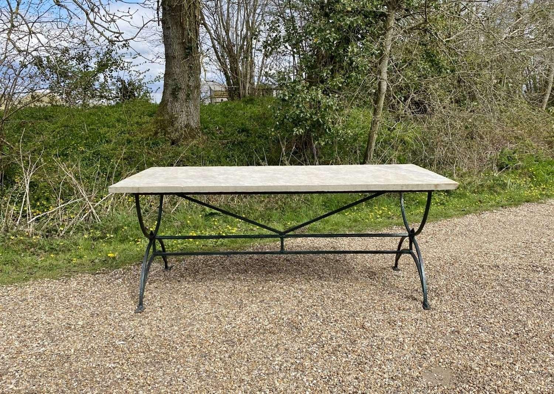 Iron and Slate Garden Table