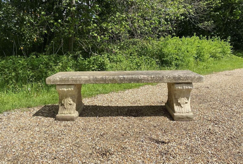 Large Stone Bench