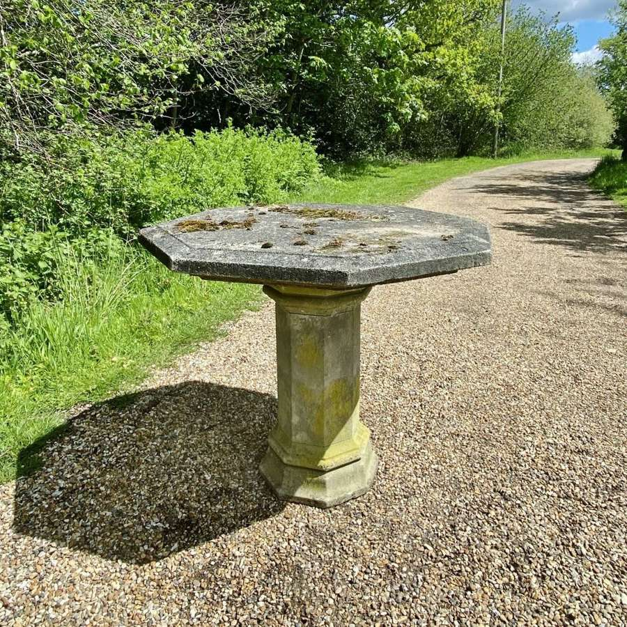 Mossy Stone Table