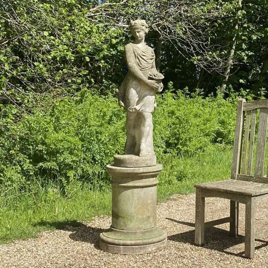 Figure of Flora with Pedestal