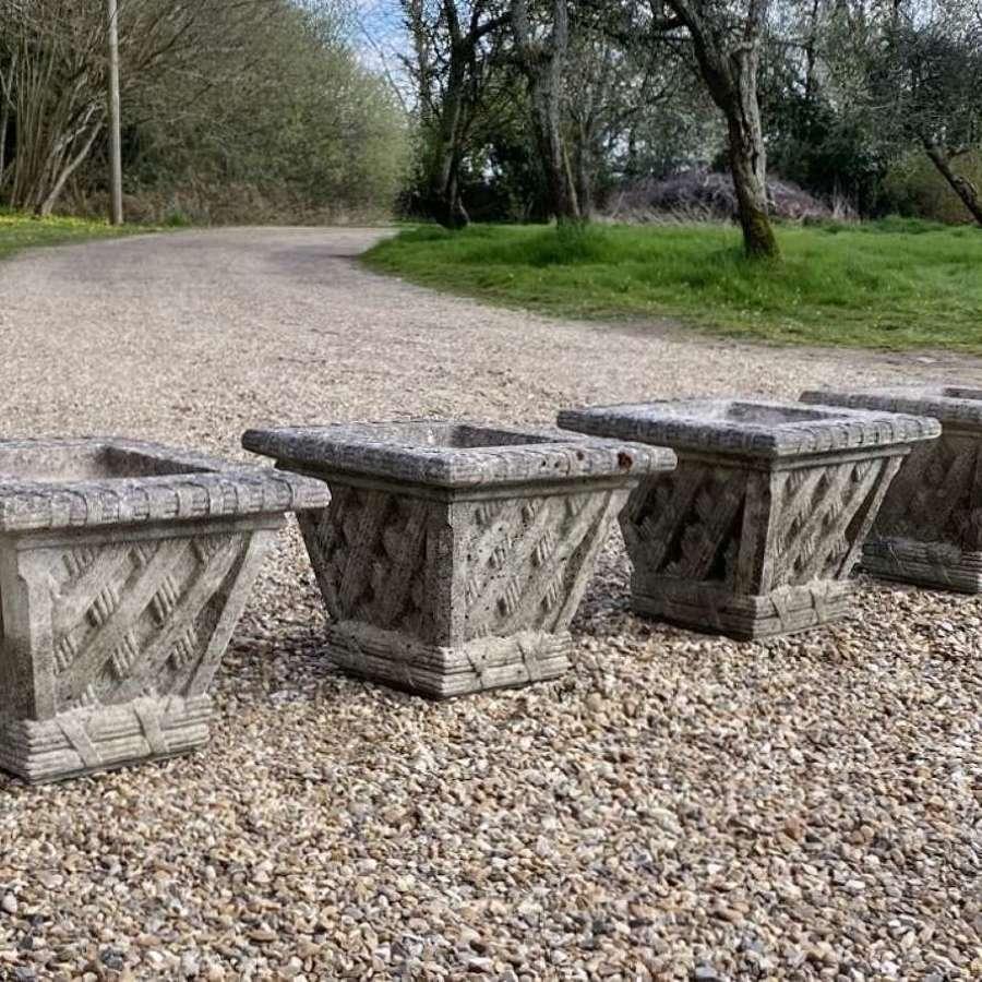 Set of 4 Small Lattice Planters