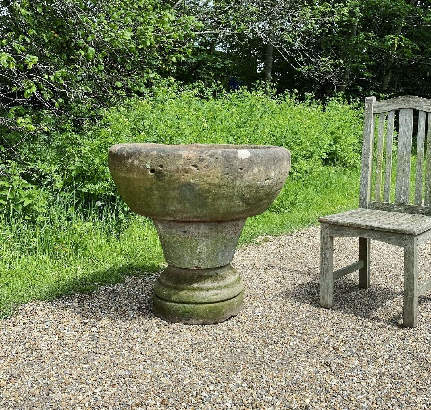 Very Large Carved Stone Planter