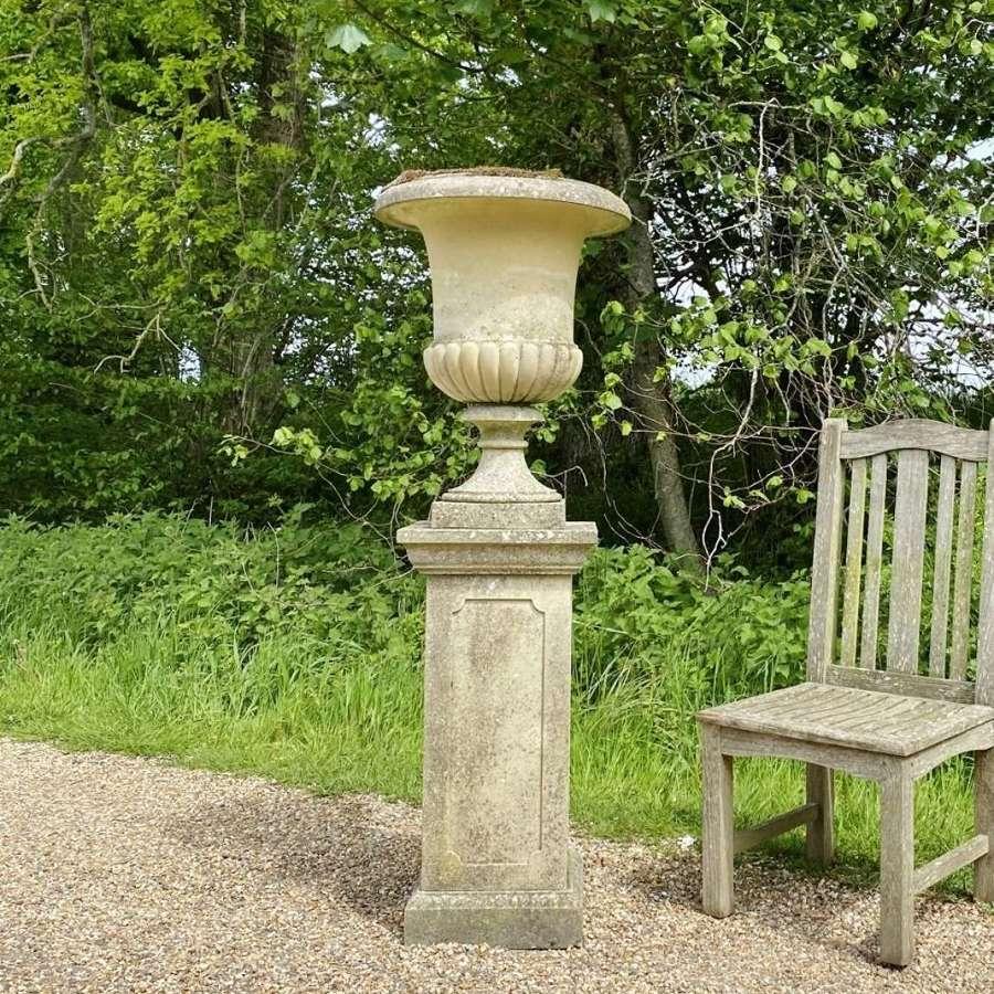 Campania Urn on Tall Pedestal