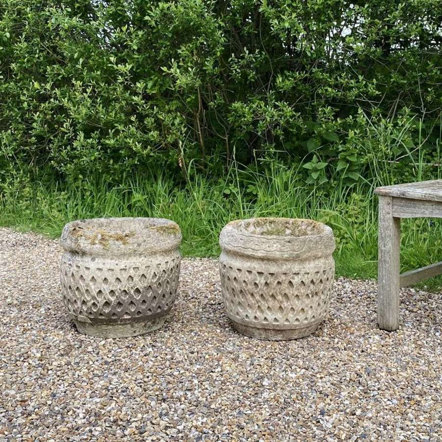 Pair of Small Cotswold Planters