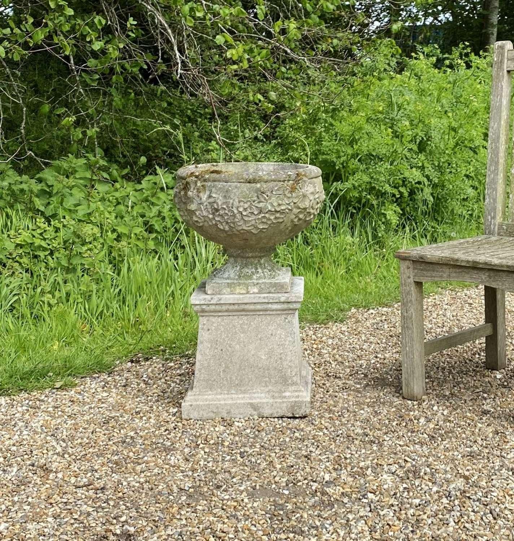 Goblet Urn and Pedestal