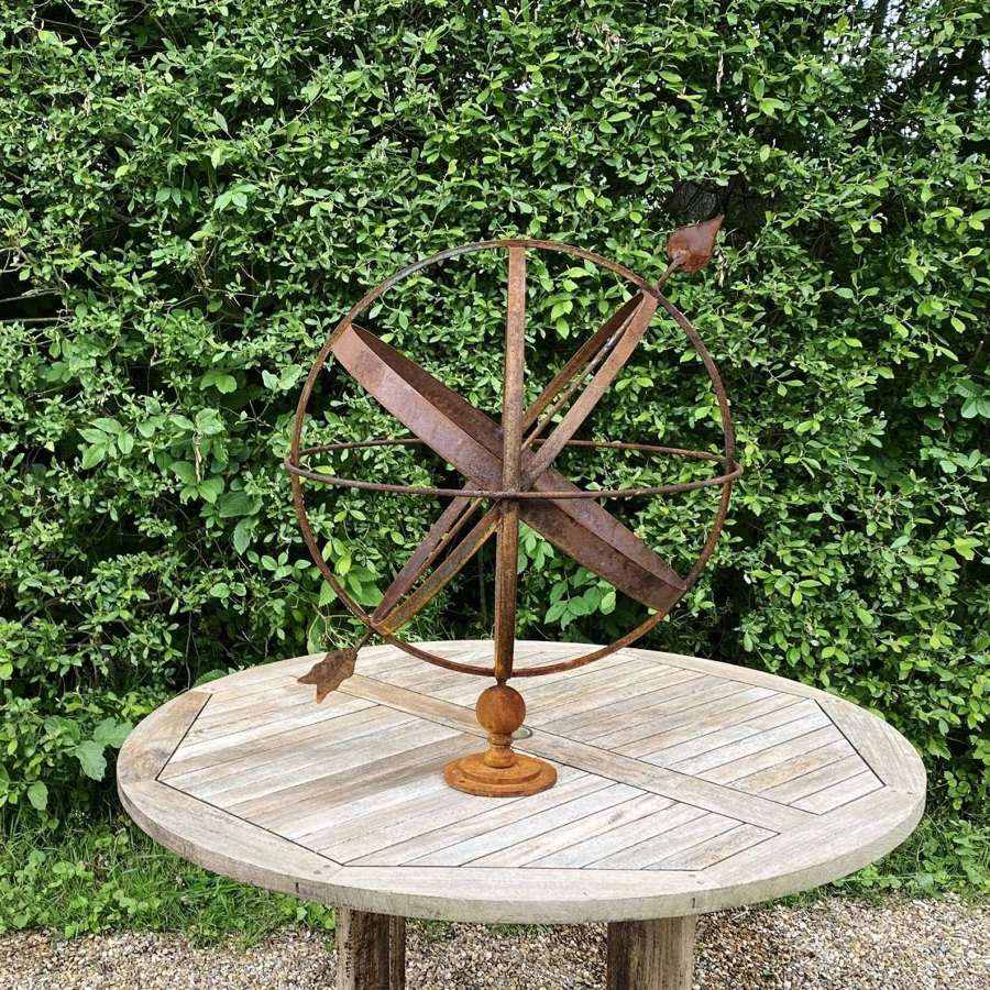 Large Rusted Armillary