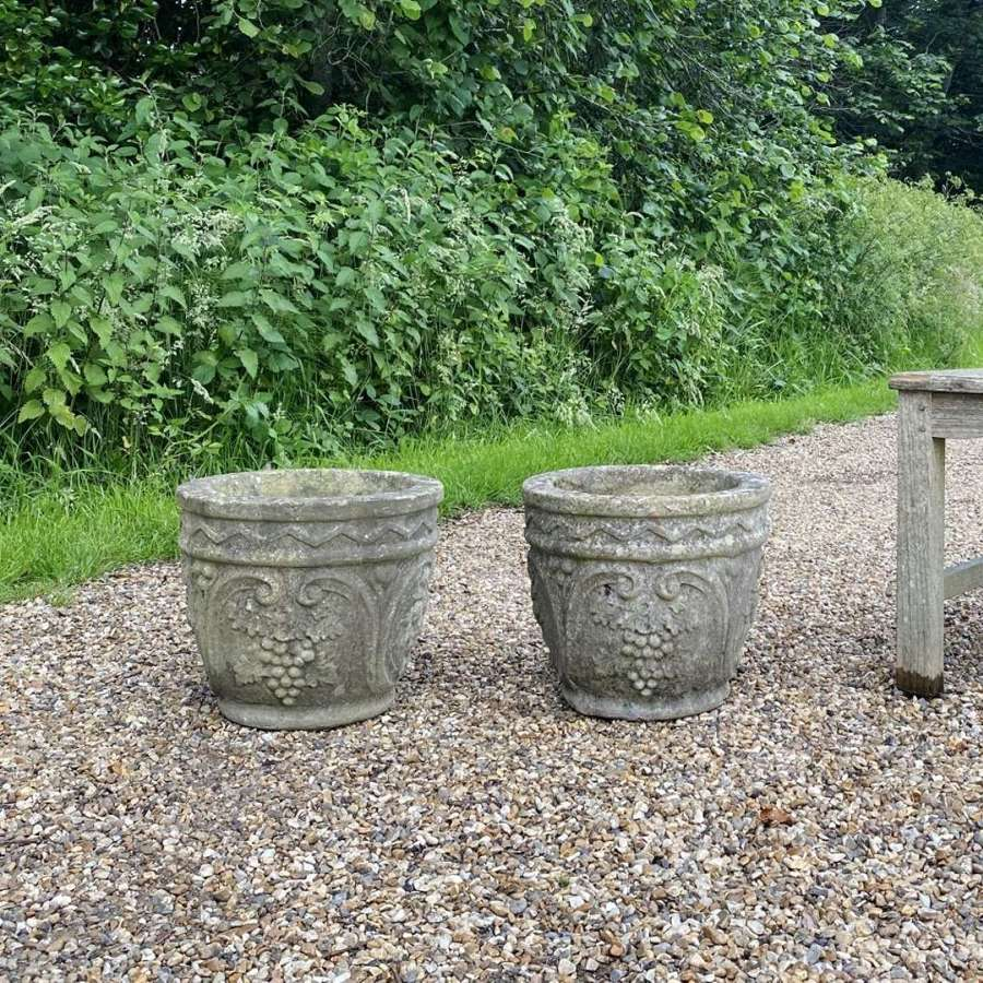 Pair of Small Patinated Decorative Planters