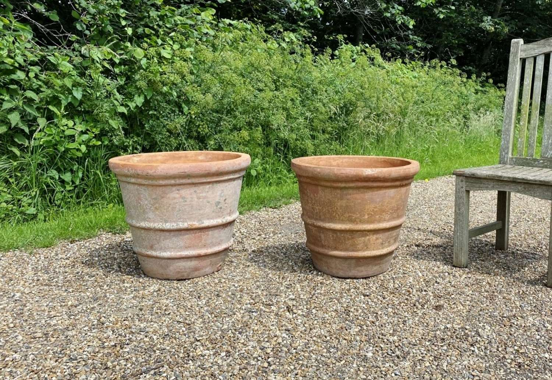 Pair of Terracotta Planters