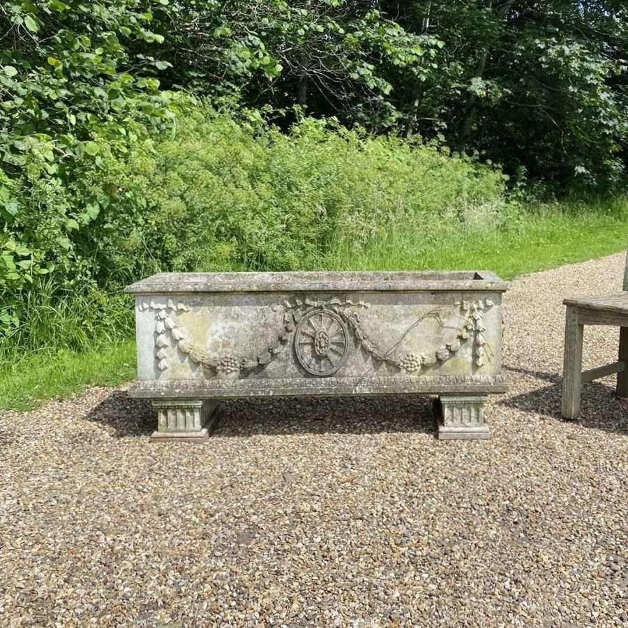 Large Patinated Stone Trough