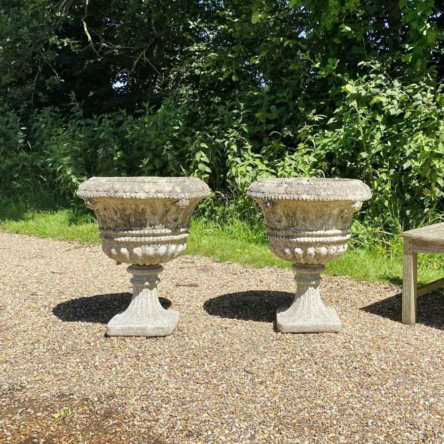 Pair of Large Decorative Urns