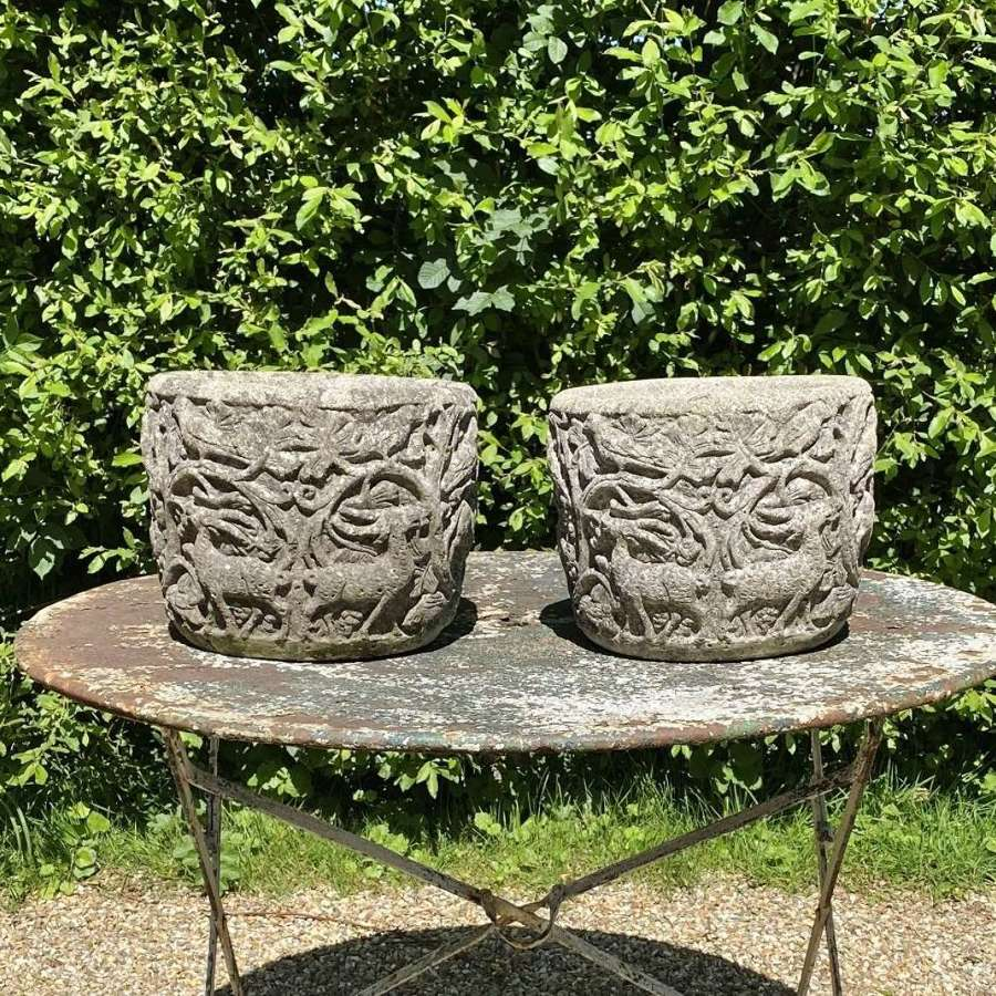 Pair of Small Decorative Planters