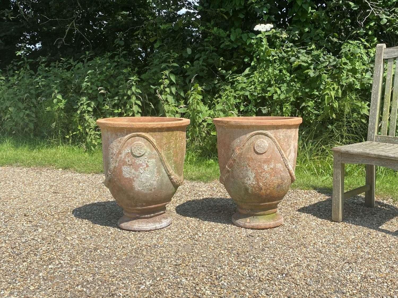 Pair of Mediterranean Terracotta Planters