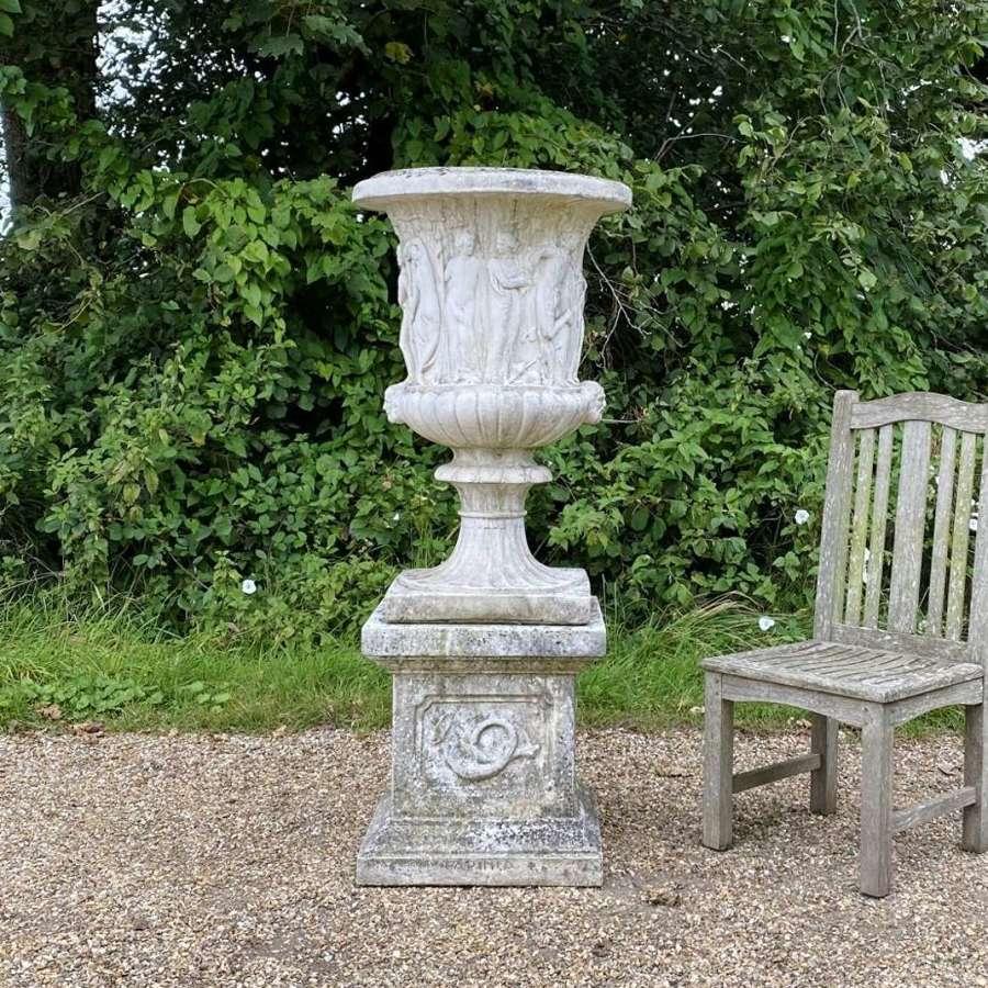Large Medici Urn and Pedestal
