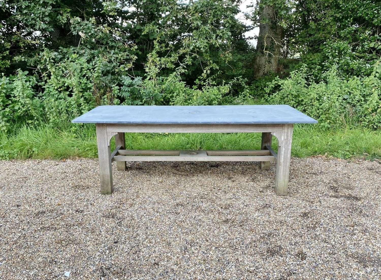 Large Slate and Oak Table