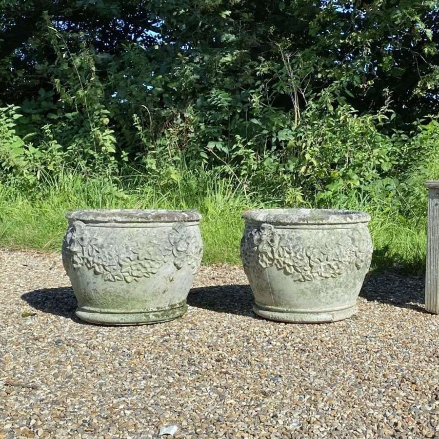 Pair of Patinated Garden Planters