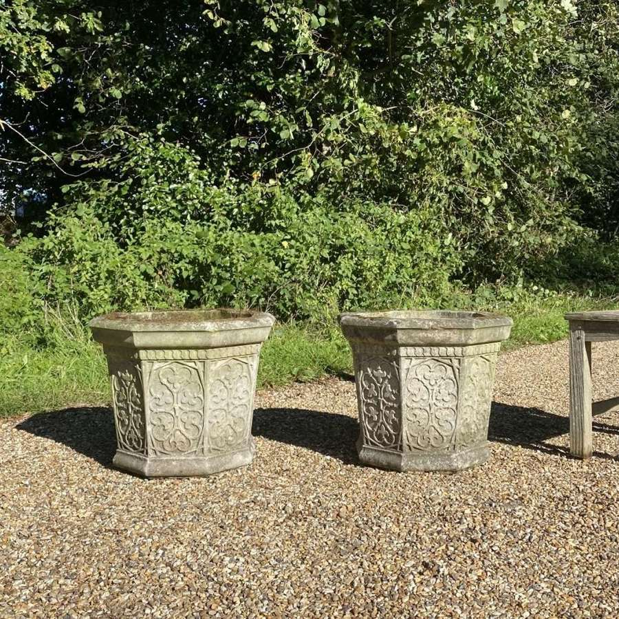 Pair of Patinated Decorative Planters