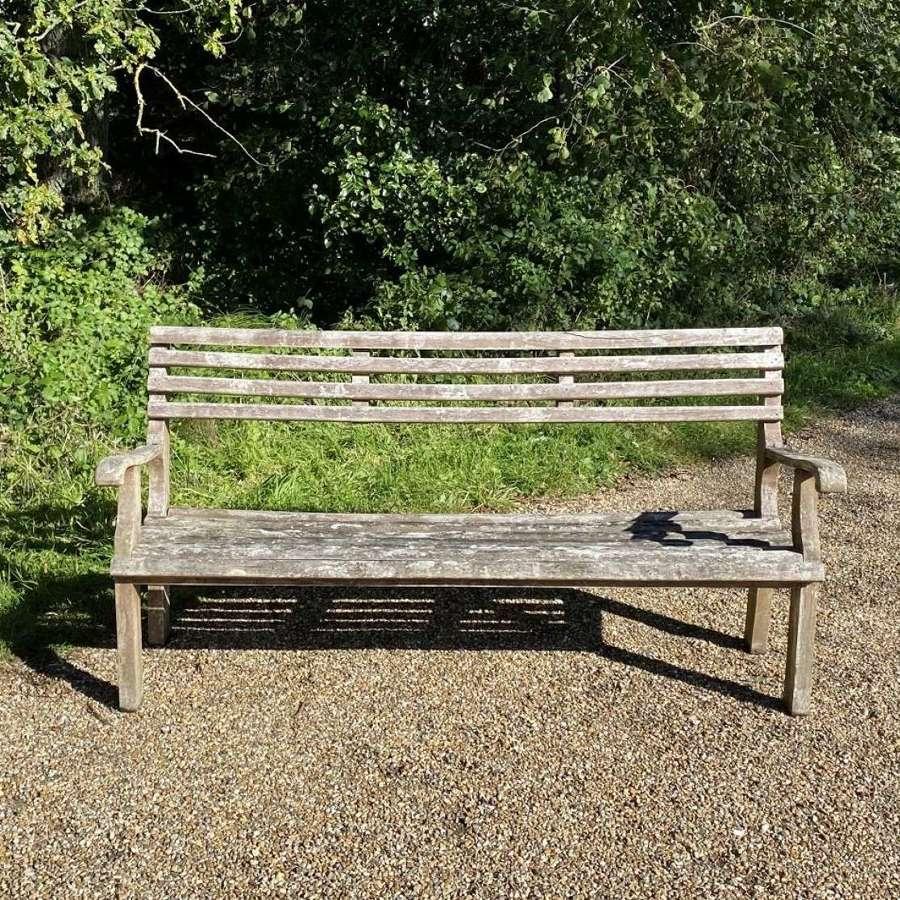 Patinated Garden Bench
